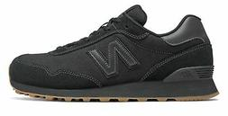 New Balance Men's 515 Classic Shoes Black with Gum