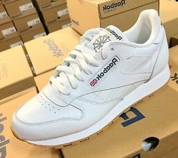 Reebok Classic Leather 49797 White Gum Sole Casual Mens Shoe