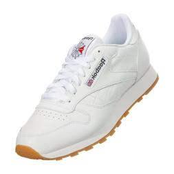 Reebok Classic Leather CL 49797 White Red Gum Casual Mens Sh