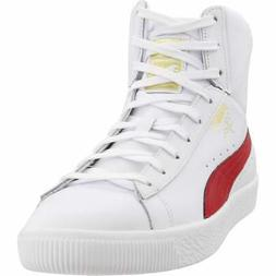 Puma Clyde Core Mid Sneakers Casual    - White - Mens