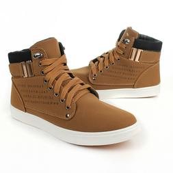 Fashion Men's Oxfords Casual High Top Shoes Leather Shoes