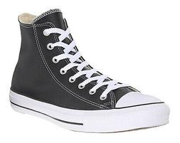 Converse Hi Tops Black White Leather Mens Sneakers Tennis Sh