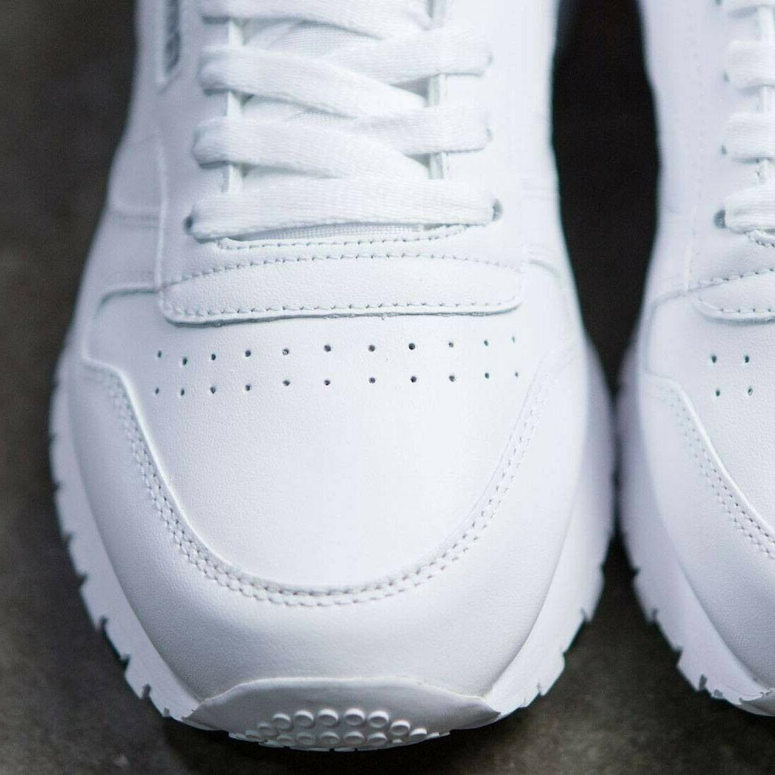 Reebok Leather White Red Shoes Fashion