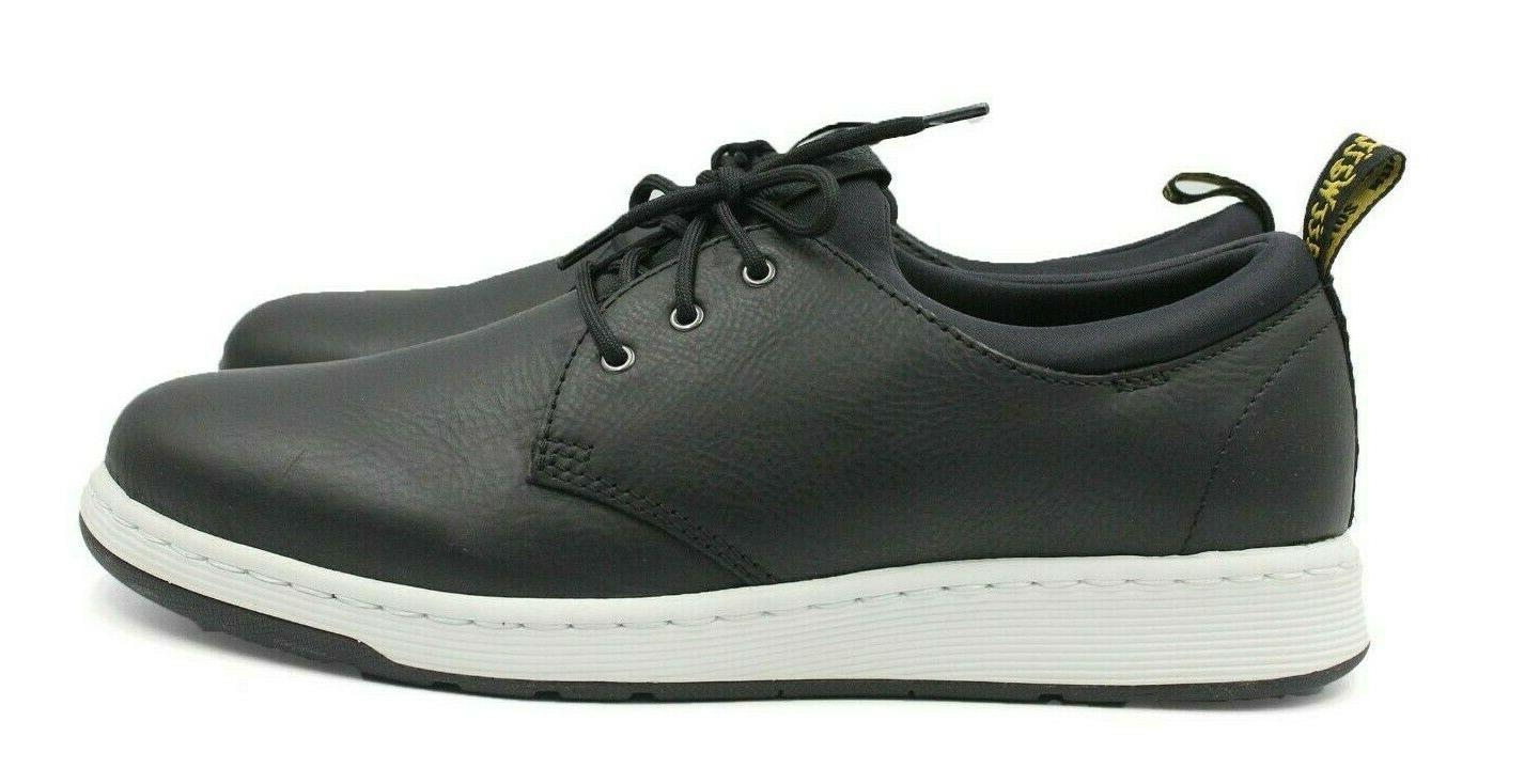 dr martens solaris training leather black sneakers