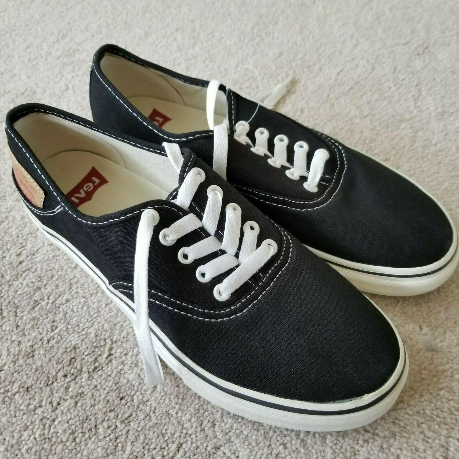 Levi's Black Sneakers Shoes Lace Men's Size NEW