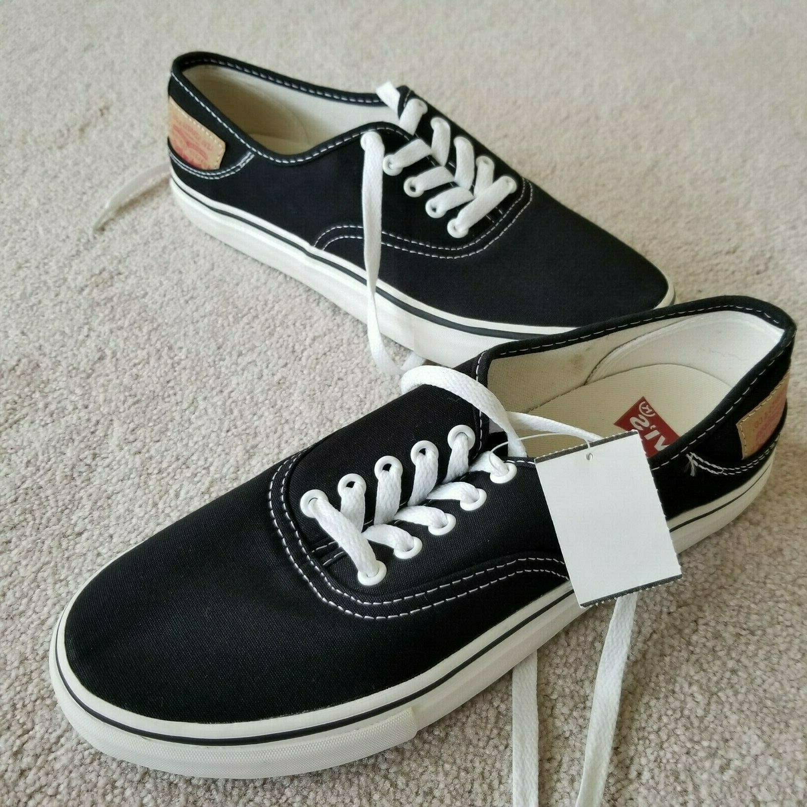 levi s black canvas sneakers shoes lace
