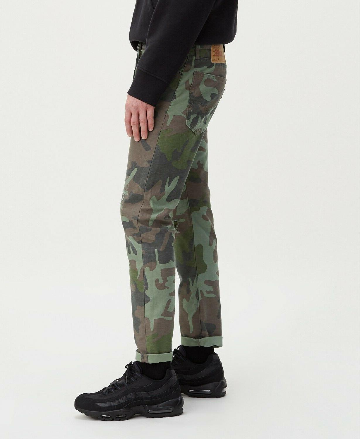 Levi's Premium Men's Tapered Camo and Black Hi Ball Roll Sne