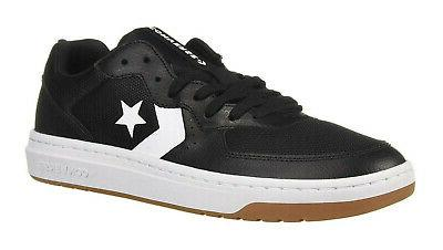 Converse Low Tops Rival OX Black, White, Gum Mens Sneakers T