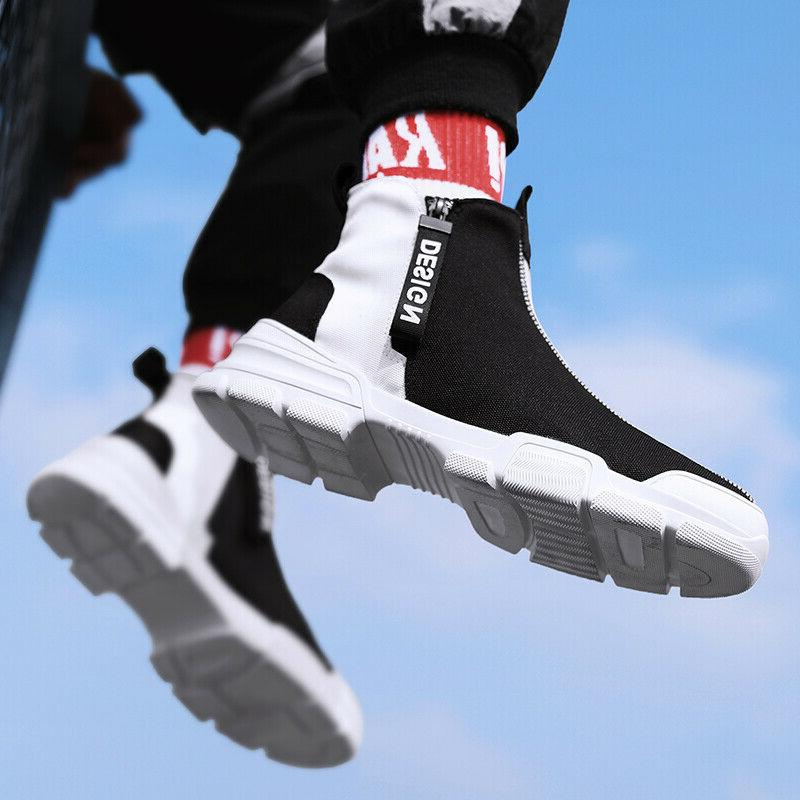 Men's Casual Shoes Athletic Leisure Fashion High Top