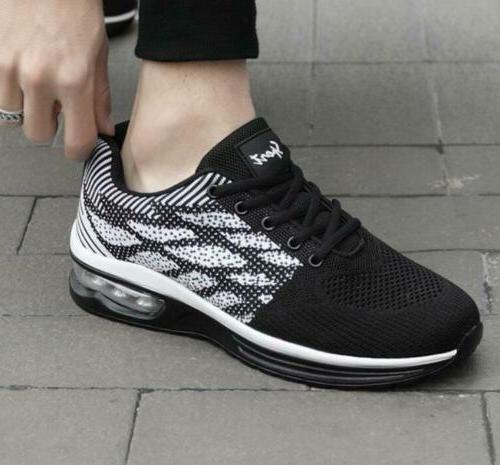 Men's Mesh Breathable Lace up Flats Road Running Women's Lei