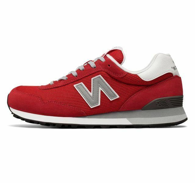 new mens 515 classic sneakers shoes red