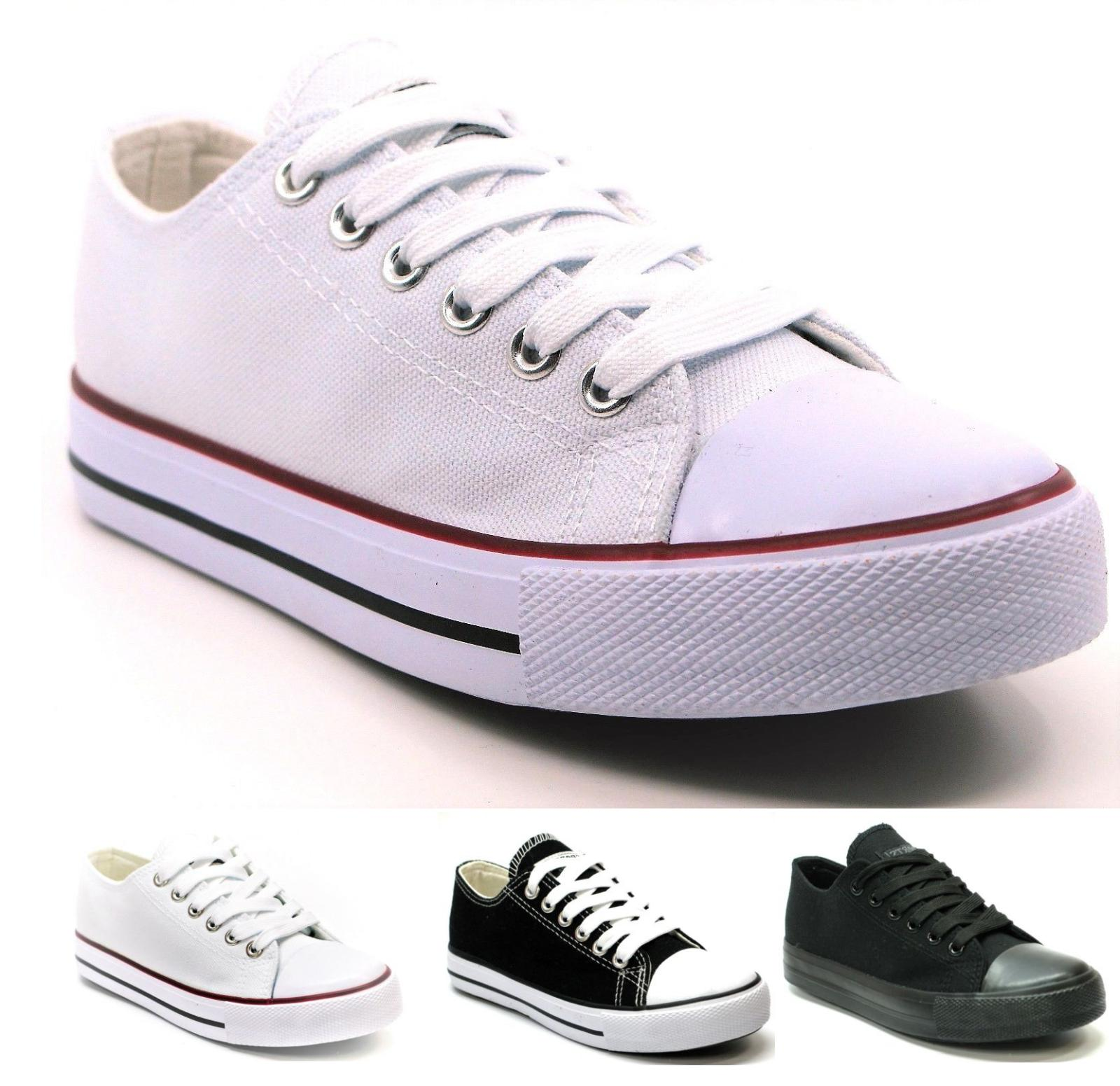 new mens classic lace up canvas shoes