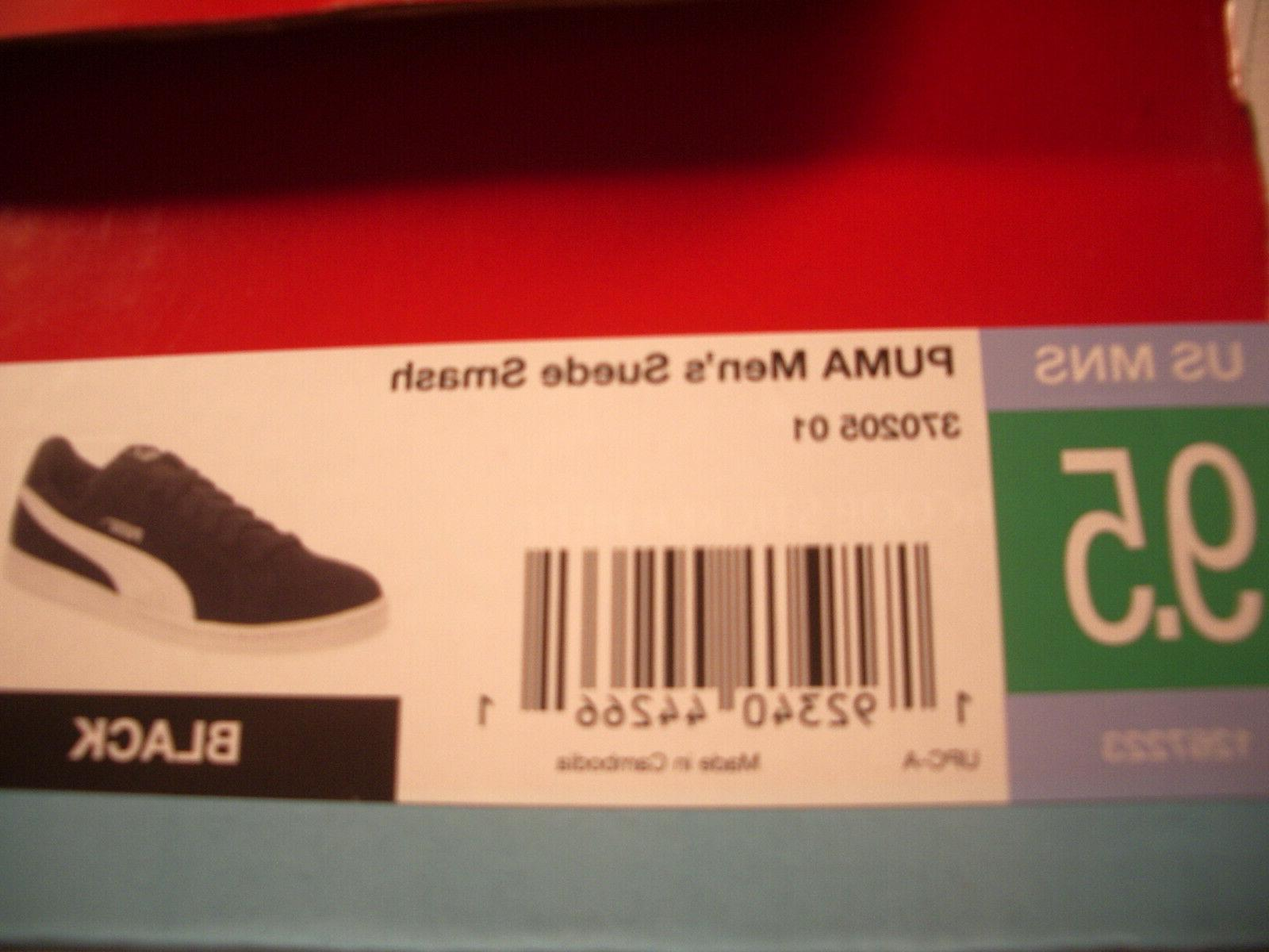 NEW Puma Suede Smash Running Shoes Black Size 9.5