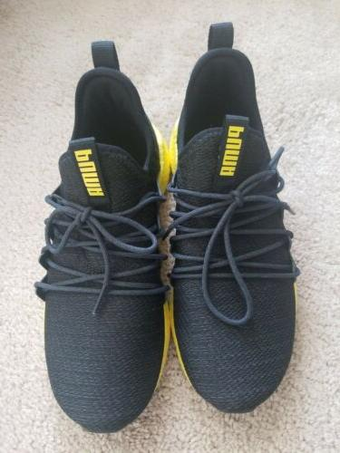 sneakers black and yellow us 5 5c