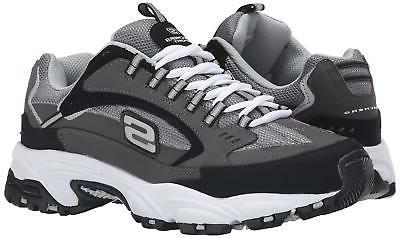 Skechers Sport Men's Stamina Nuovo Cutback Lace-Up DM,Charcoal/Black