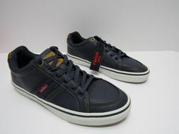 Levi's Men's Turner-Nappa Navy/Tan Levis Sneakers Shoes Size