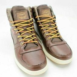 Levis Mens Stanton Burnish High Top Sneaker Brown Size 8.5M