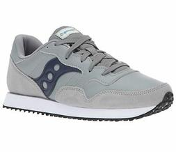 Saucony Men's DXN Trainer Sz US 14 M Grey Leather & Suede Sn