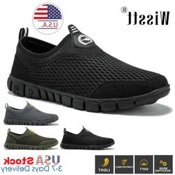 Men's Running Walking Shoes Sports Breathable Sneakers Fitne
