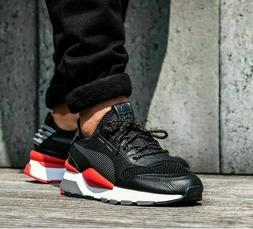 Mens Puma Originals RS-0 Play Sneakers New Black White Red 3