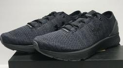 Under Armour Mens Size 10 Charged Bandit 3 Running Black Sne