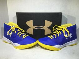Under Armour Mens Size 10 Jet 2017 Blue Yellow Basketball  S