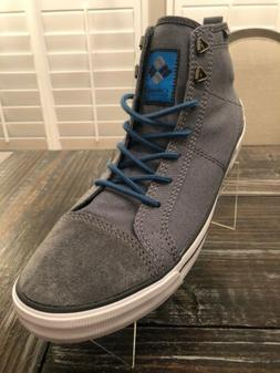 Columbia Mens Size 11 Goodlife High Top Sneaker Grey With Su