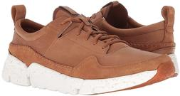 Mens Clarks Triactive Run Lace Up Sneakers - Tan Nubuck