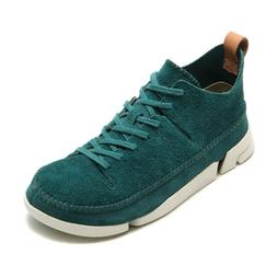 Clarks Mens Trigenic Flex Teal Suede Sneakers 26107462--Fina