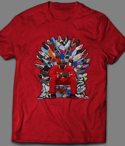 "MICHAEL JORDAN ""THRONE OF SNEAKERS"" ART MENS T-Shirt *MANY O"