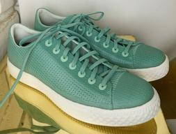 Converse Modern Mens 10 Green Sneakers Low Tops Perforated S