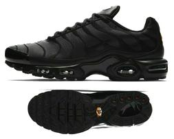 New NIKE Air Max Plus TN leather Men's Sneakers triple black