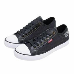 *NEW* Levi's Men's Stan Buck C Black Denim Fashion Sneakers