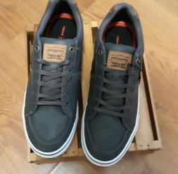 New Levis Comfort Men's Turner Nappa Gray Leather Sneakers