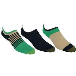 New Gold Toe Men's Stay Cool Color Block Invisible Sneaker S