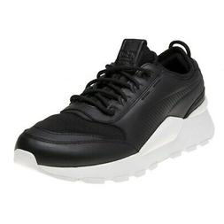 New MENS PUMA BLACK RS-0 SOUND LEATHER Sneakers Running Styl
