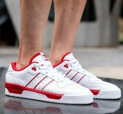 New adidas Rivalry Leather Mens low sneaker white red all si