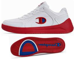 New CHAMPION Super Court Low Mens Shoes Sneakers white red s