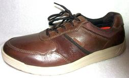 NEW ROCKPORT TRUTECH BROWN LEATHER MEN'S LIGHTWEIGHT OXFORD