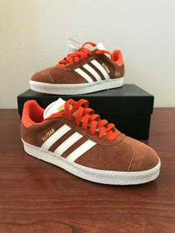 New Adidas x JCrew Gazelle II Suede Sneakers Trainers Red Br