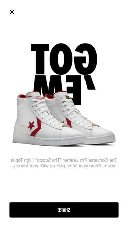 """Converse Pro Leather """"The Scoop"""" High Top Dr. J Art of a Cha"""