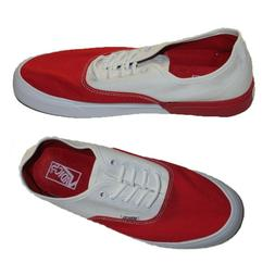 Red and White FlexibleMen's Skateboarding Shoes Sneakers.